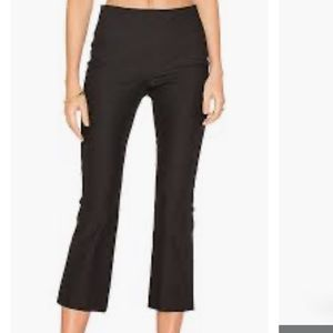 Theory Ernstina Flare Crop Stretch Pants
